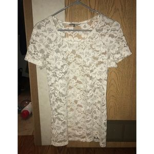 BLE white lace shirt XL